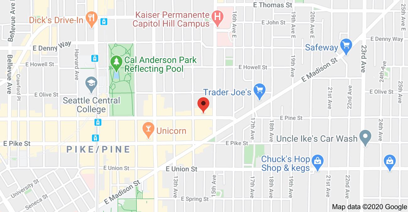 Map - 1410 E Pine St Unit #W220
